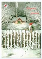 Postal Stationery RED CROSS  Finland SPR 2006 - CHRISTMAS POSTCARD - Artist: INGE LÖÖK - GNOME / LUTIN - Postage Paid - Finland