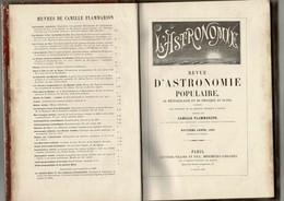 1889 FLAMMARION L'ASTRONOMIE POPULAIRE 448 Pages 157 Figures+12 Revues Mensuelles De 12 P Dans Le Livre - Astronomie