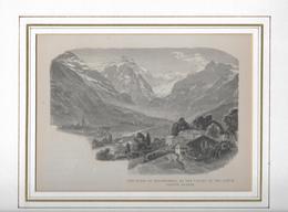 1883 STACHELBERGER BAD MIT UMGEBUNG → Holzstich 166 X 115 Mm - Stiche & Gravuren