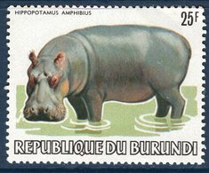 Burundi, Timbre Neuf, Animaux, Hippopotamus Amphibius - Burundi