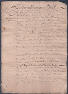 Manuscrit De 1669.Belle Calligraphie à Déchiffrer.Bourg-Argental. - Manuscrits