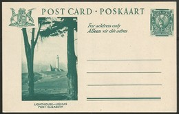 South Africa 1941. ½d Springbok. Quik P25 Lighthouse, PE Cape. Postcard. - Covers & Documents