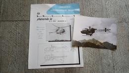 Photo Hélicoptère Alouette II En Vol Et Fiche Technique - Aviation