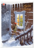 Postal Stationery RED CROSS  Finland SPR 2004 - CHRISTMAS POSTCARD - Artist: INGE LÖÖK - GNOME / LUTIN - Postage Paid - Finland