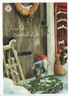 Postal Stationery RED CROSS  Finland - CHRISTMAS POSTCARD - Artist: INGE LÖÖK - GNOME / LUTIN - Postage Paid - Finland