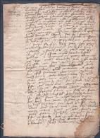 Manuscrit De 1515.Très Belle Calligraphie à Déchiffrer.Contrat De Mariage.Généalogie Mr. Bollioud. - Manuscrits