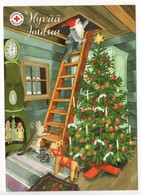 Postal Stationery RED CROSS  Finland - CHRISTMAS POSTCARD - Artist: INGE LÖÖK - GNOME & CAT / LUTIN & CHAT  Postage Paid - Finland