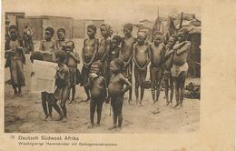 Deutsch Sudwest Afrika Hungry Herero Nude Kids Prisoners With Altengurger Zeitung Edit Carl Muller Altenburg - Namibie