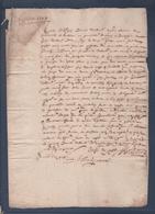 Manuscrit De 1608.Belle Calligraphie à Déchiffrer. Mr. Bollioud. - Manuscrits