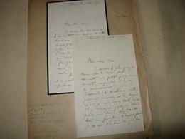 2 LETTRES AUTOGRAPHES SIGNEES DE RENE FARALICQ 1910 POETE COMMISSAIRE POLICE CRIMINOLOGIE ARRESTATION LANDRU - Autógrafos