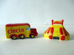 Fèves Brillantes  - Circus - Camion Et Chapiteau - Fèves