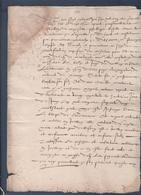 Manuscrit De 1571.Belle Calligraphie à Déchiffrer. - Manuscrits