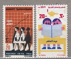 EGYPT 1975 Education MNH(**) Mi 660-661 #23867 - Unused Stamps