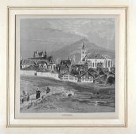 1880 APPENZELL PARTIE BEI DER KIRCHE  → Holzstich 132 X 132 Mm - Stiche & Gravuren