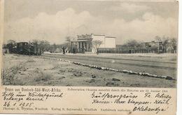 Deutsch Sudwest Afrika Gruss Bahnstation Okahandja Herero War Jan. 12 1904 Train Wywias Szymanski Windhuk - Namibia