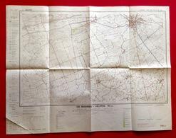 STAFKAART 1/25.000 DE MOEREN VEURNE Meting1965 ADINKERKE BULSKAMP HOUTEM BEAUVOORDE STEENKERKE IZENBERGE ALVERINGEM S453 - Cartes Topographiques