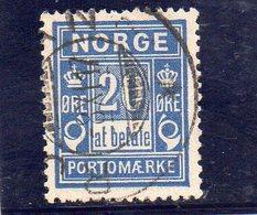 NORVEGE 1889-93 O - Oblitérés