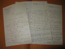 2 LETTRES AUTOGRAPHES SIGNEES DE THOMAS-NITCHEVO 1932 JOURNALISTE SURREALISTE BELGIQUE à T'SERSTEVENS - Autógrafos