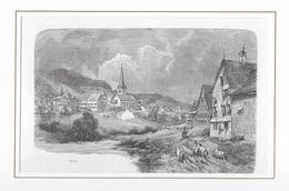 1883 GAIS MIT UMGEBUNG → Holzstich 168 X 110 Mm - Stiche & Gravuren