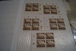Superbe Lot De 5 Feuillets De 4 Timbres,Deutche Reich ,lot De 20 T.1942 Pour Collection,strictement Neuf ! - Allemagne