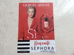 Flyer Si De Armani - Cartas Perfumadas