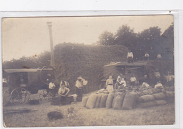 Lot 2 Cpa /cartes Photo -agri-camp-travaux Champetres-battage -personnages - Cultures
