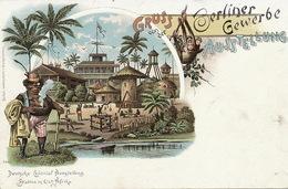 Deutsch Ost Afrika Litho Color Station Berliner Gewerbe Deutsche Colonial Ausstellung Louis Glaser Leipzig - Tanzanie