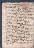 Manuscrit De 1668.Belle Calligraphie à Déchiffrer. - Manuscrits