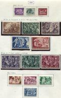 11880 BULGARIE Collection Vendue Par Page N° 687/9, 690/4, 695/7, 698/701  */ °  1951  TB - 1945-59 People's Republic