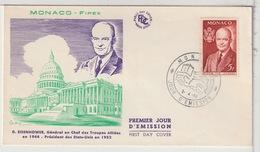 MONACO - FDC - 1956 - FDC