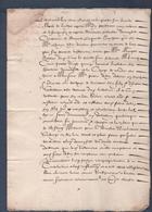 Manuscrit De 1615.Belle Calligraphie à Déchiffrer.Lyon Et Environs. - Manuscrits