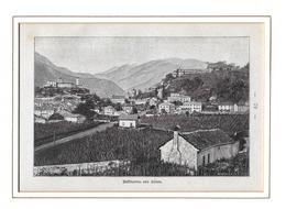 1895 BELLINZONA VON SÜDEN → Holzstich 145 X 95 Mm - Estampes & Gravures