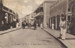 Danish West Indies St Thomas A Main Street View Used To  Ile Aux Chiens Gendarme St Pierre Miquelon - Isole Vergini Americane