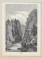 1890 STALVEDRO → Holzstich Orell Füssli 100 X 148 Mm - Estampes & Gravures