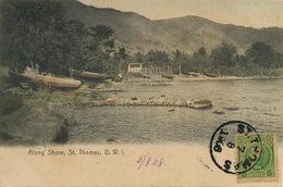 Danish West Indies St Thomas Along Shore Edit Lightbourn's Colored Used  To Cienfuegos Cuba - Vierges (Iles), Amér.