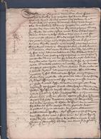 Manuscrit De 1645.Belle Calligraphie à Déchiffrer. - Manuscrits