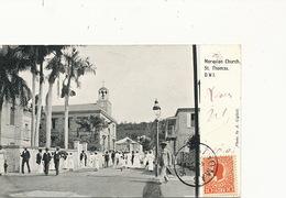 Danish West Indies St Thomas Moravian Church Photo Giglioli 1905 Mass Nice Costumes - Virgin Islands, US