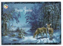 Postal Stationery CANCER FOUNDATION Finland - CHRISTMAS POSTCARD - ANIMALS - DEER - Postage Paid - Finland