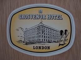 ETIQUETTE D'HOTEL GROSVENOR LONDON - Hotel Labels