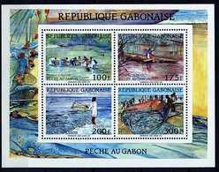 Gabon ** Bloc 64 -La Pêcheau Gabon - Gabon (1960-...)