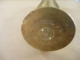 Douille Obus De 37 MmMle 1925 Daté 39 (neutralisé) - Equipement