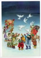 Postal Stationery  UNICEF  Finland - CHRISTMAS POSTCARD - LISI MARTIN - CHILDREN - PIGEONS - Postage Paid - Finland