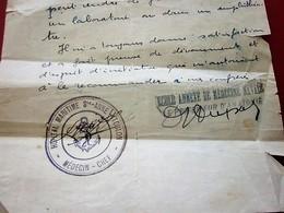 1935 ATTESTATION CERTIFICAT SUR ORDONNANCE SERVICE ANATOMIE AUTOPSIE HÔPITAL MARITIME STE ANNE TOULONDocument Militaire - Documents