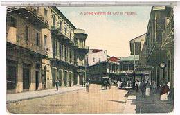 PANAMA  A STREET VIEW IN THE CITY OF PANAMA 1930  US120 - Panama