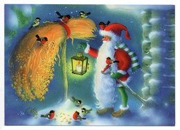 Postal Stationery  UNICEF  Finland - CHRISTMAS POSTCARD - GNOME - MOUSE - BIRDS - BULLFINCHES - Postage Paid - Finland