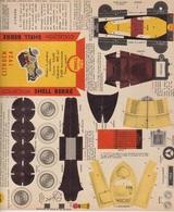 CARTON PREDECOUPE SHELL BERRE COLLECTION BOLIDES D'AUTREFOIS N° 29 - CITROEN 1924 - Publicité