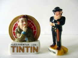 Fèves Brillantes X 2 -  Tintin Et Le Secret De La Licorne - 2013 Fox - Pics - Personnages