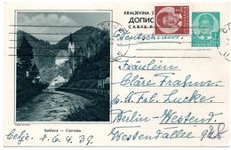1939 Solcava Slovenia Jugoslavia  Yugoslavia Used Postcard Ilustrovana Koriscena Dopisnica - Slovénie