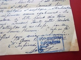 1932 ATTESTATION CERTIFICAT SUR ORDONNANCE SERVICE SALLE OPÉRATIONS HÔPITAL MARITIME STE ANNE TOULON Document Militaire - Documents