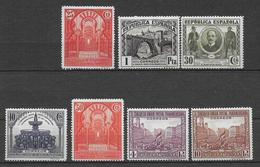 ESPAGNE -  YVERT N° 515/521 * MH (MANQUENT LES 3 PLUS PETITES VALEURS) - COTE = 79 EUR. - - 1931-Heute: 2. Rep. - ... Juan Carlos I